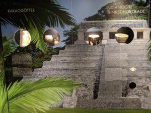 Schokomuseum Halle - Ursprung vom Kakao bei den Azteken